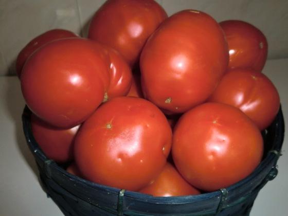 Tomates de la Sierra Santa María de mi amiga Isabel